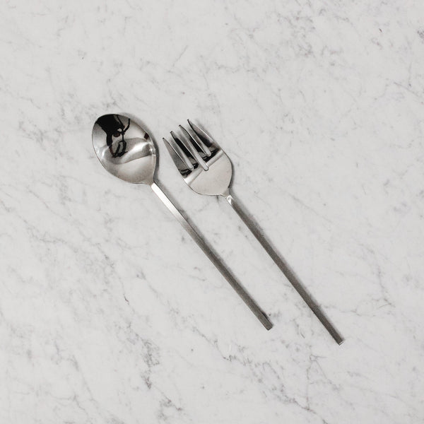 Edenborough Steel Textured Salad Servers