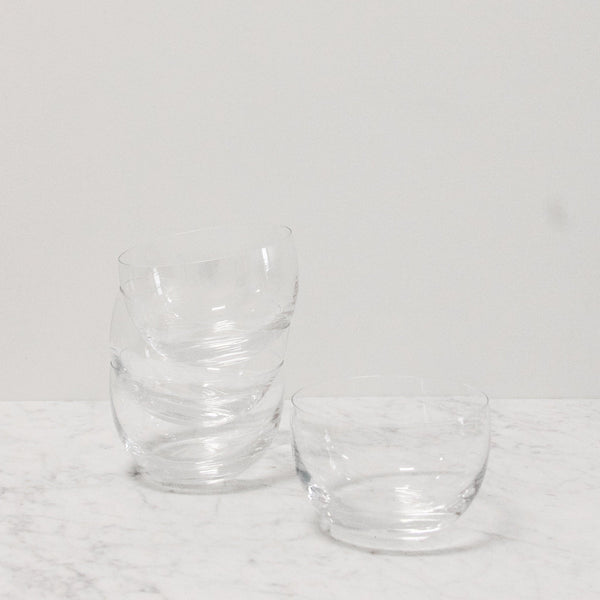 Serve Glass Salad Bowl with 4 Bowls