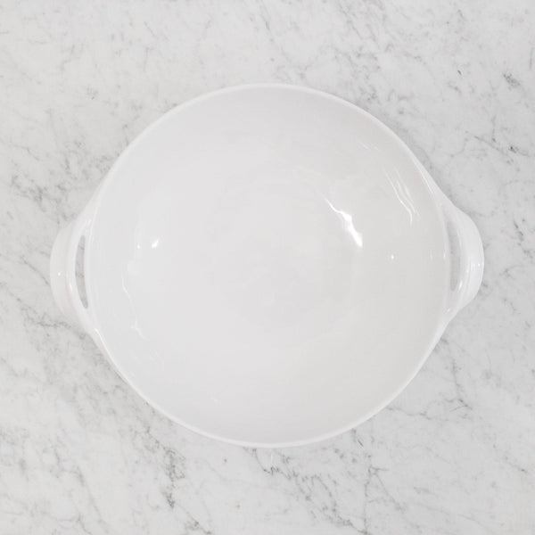 Le Cadeaux - Bianco White serving Bowl with Handles