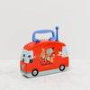 Red musical travelling circus metal bus toy - back
