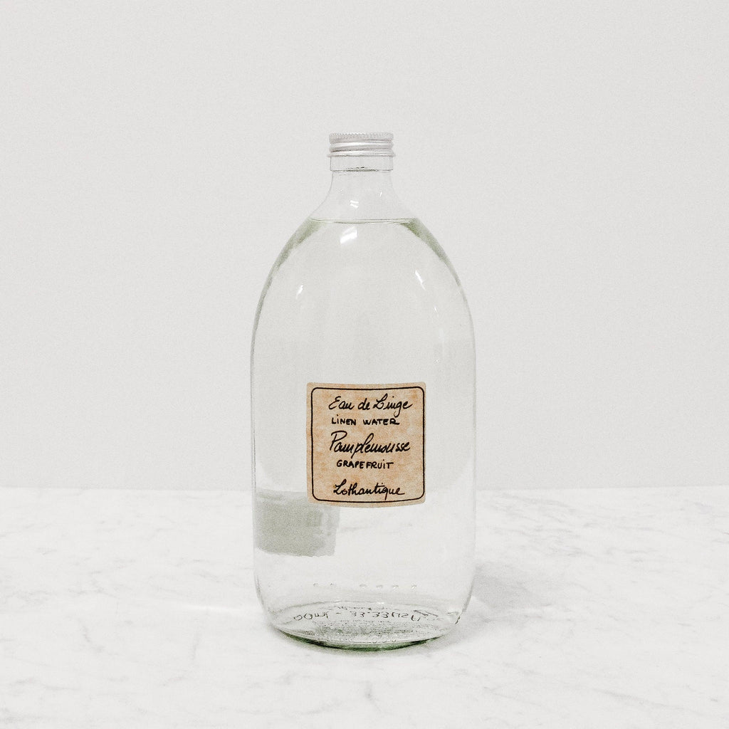 1L refill Bottle of Lothantique grapefruit scented linen water