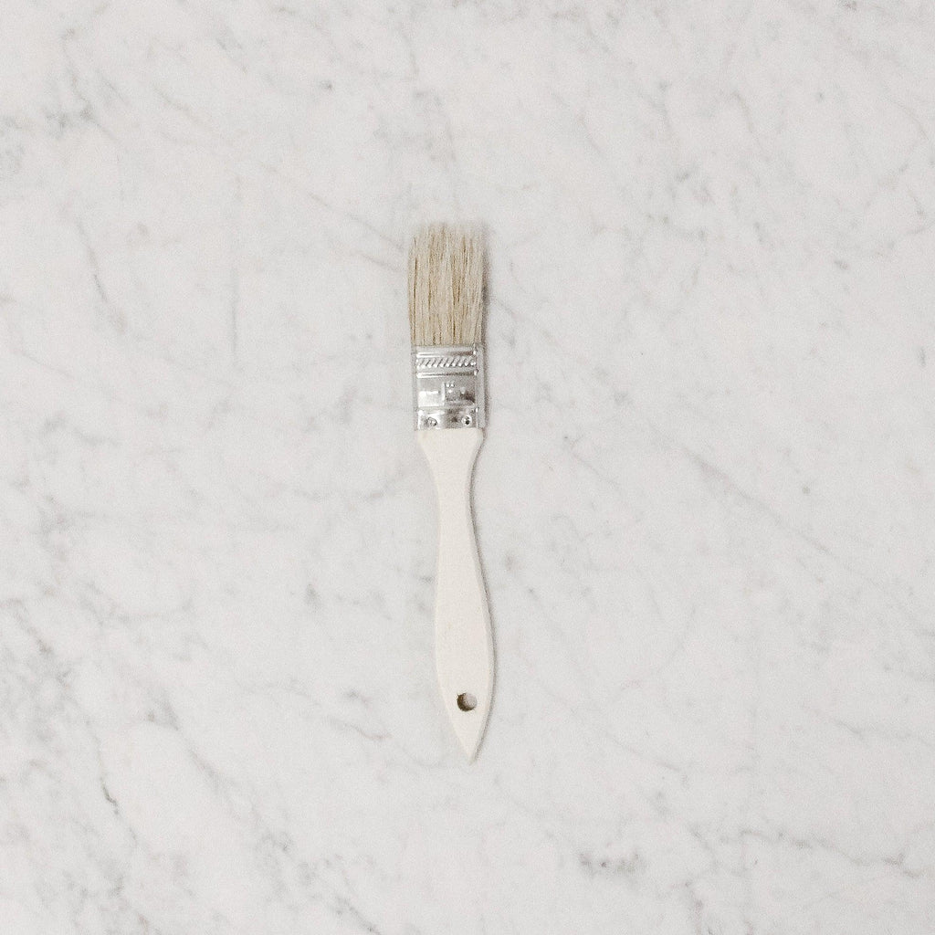 "small 1"" pastry brush with wooden handle"