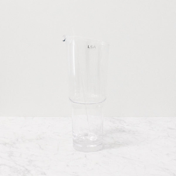 clear LSA glass cocktail jug with glass stirrer