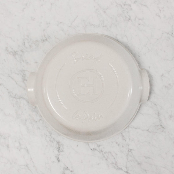 top view of lid of Emile Henry ceramic Round bread baker