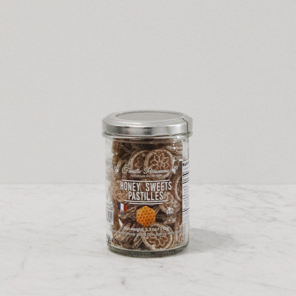 jar of honey sweets from famille perronneau