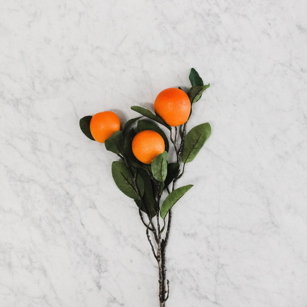 faux orange branch