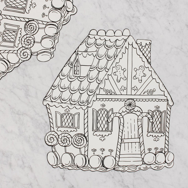 hester and cook gingerbread colouring placemat