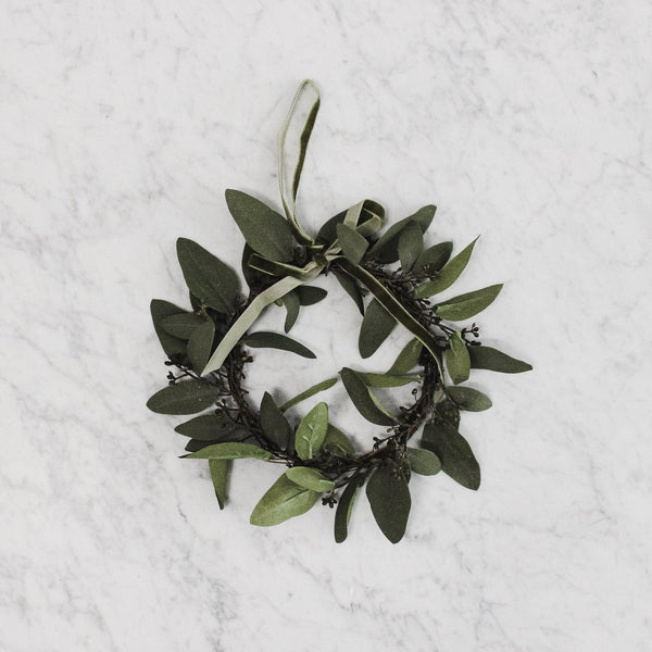 medium faux eucalyptus wreath