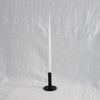 Dansk Candle Holder Black, Tall with white candle