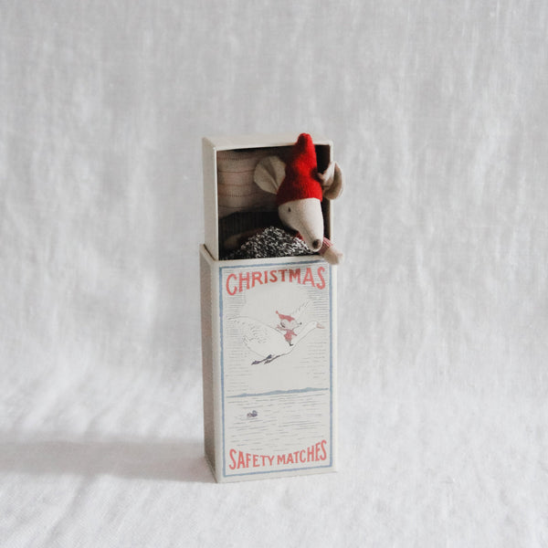 Maileg - Christmas Mouse in Matchbox - Big Brother