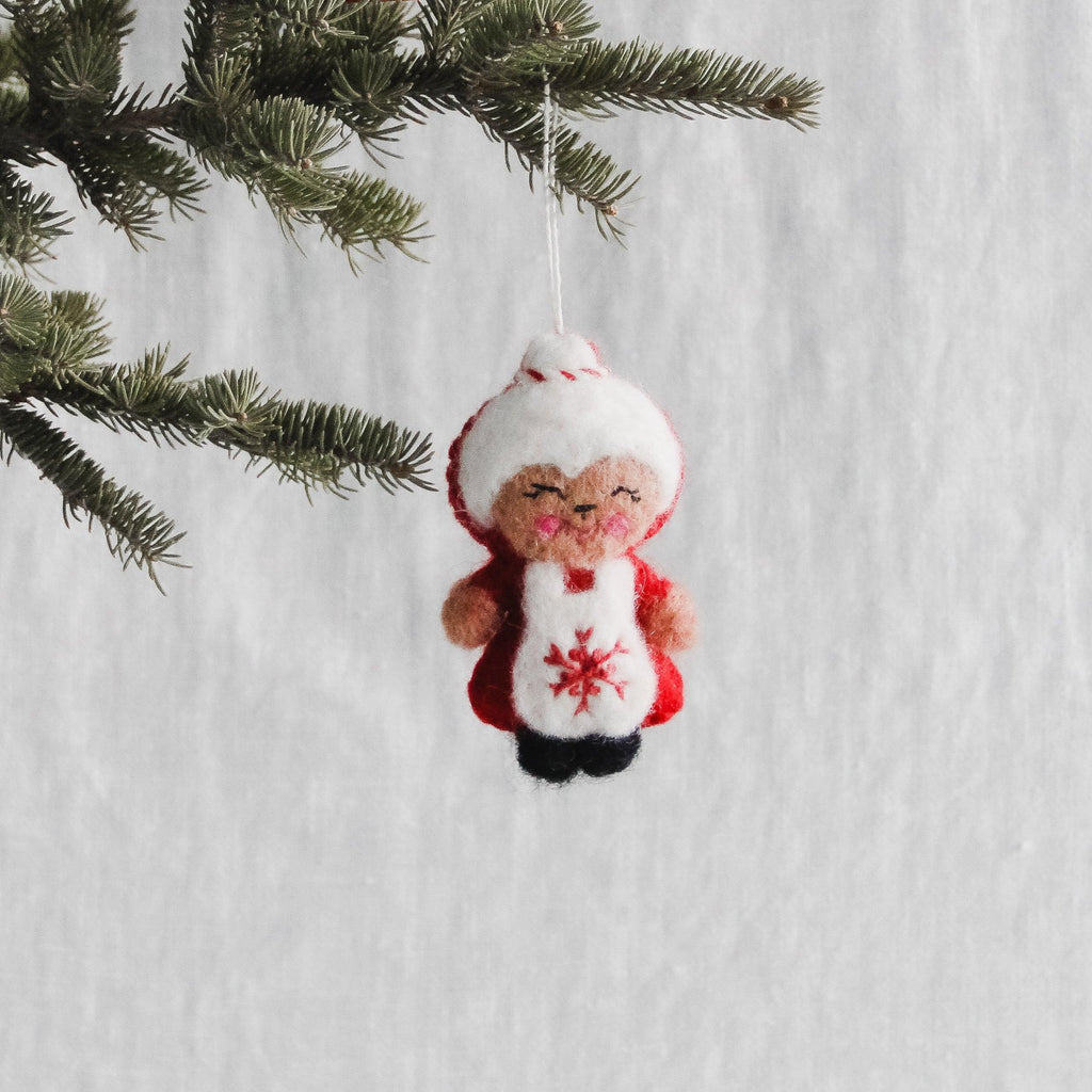 Ornament Felted Mrs. Claus
