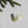 Wool bird holiday ornament