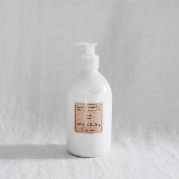 Lothantique Hand and Body Lotion scented in milk