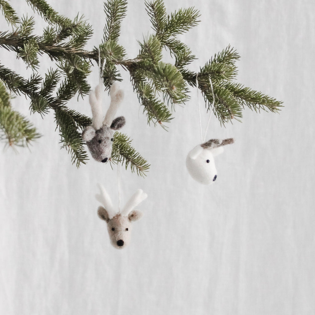 Christmas Ornament Reindeer (Set of 3)