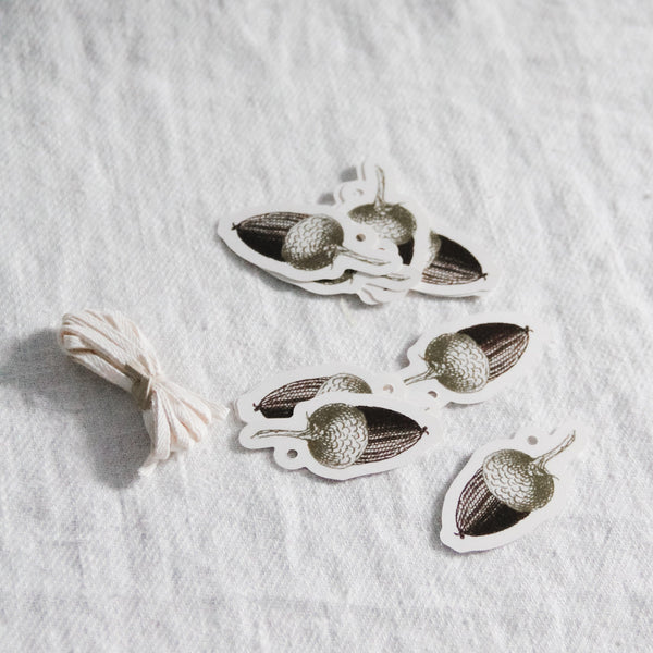 Hester & Cook - Acorn Paper Charms