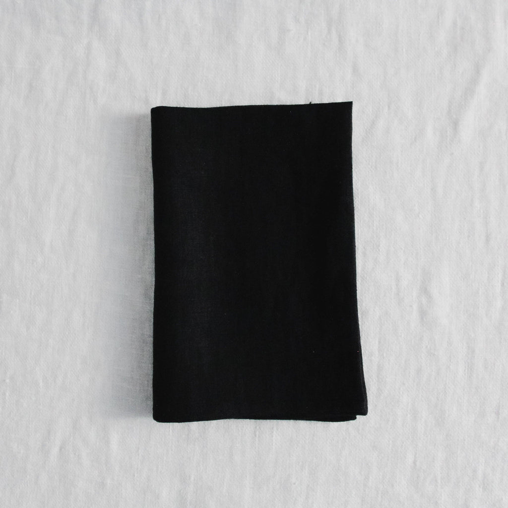 Linen Way - Black Toronto Tea Towel