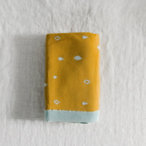 The Blueberry Hill - Organic Cotton Raindrop Blanket