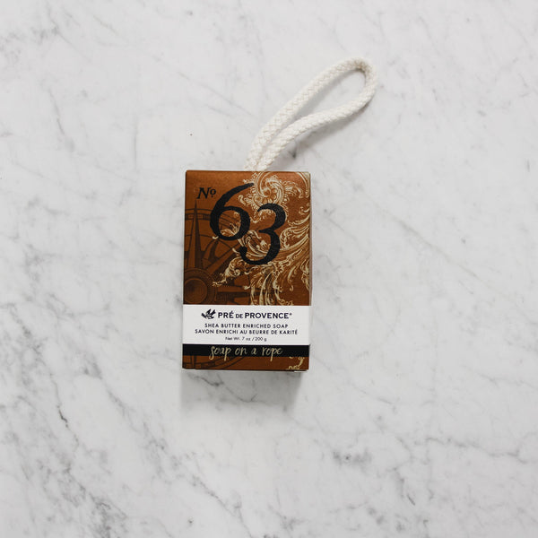 Pre de Provence No. 63 Men's Scented Soap on a Rope