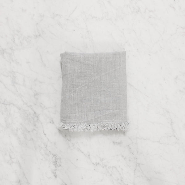 folden linen way bilbao silver cloud guest towel
