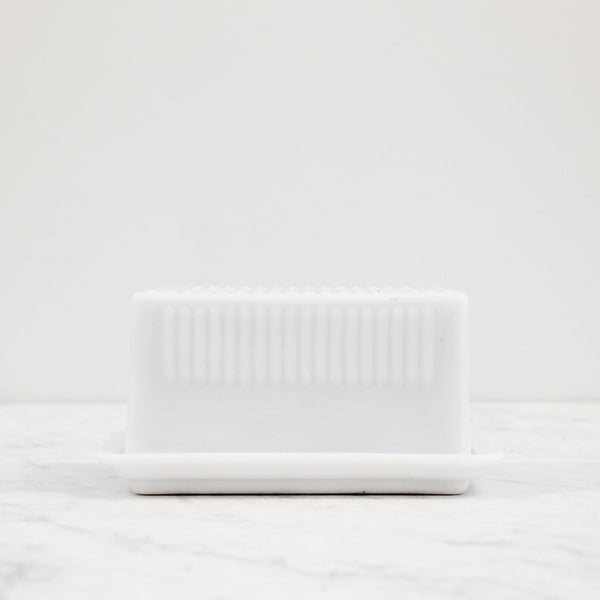 Heritage Milk Glass Butter Dish