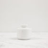 white marble spice jar with lid