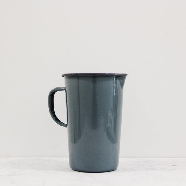 falcon enamelware two pint grey jug