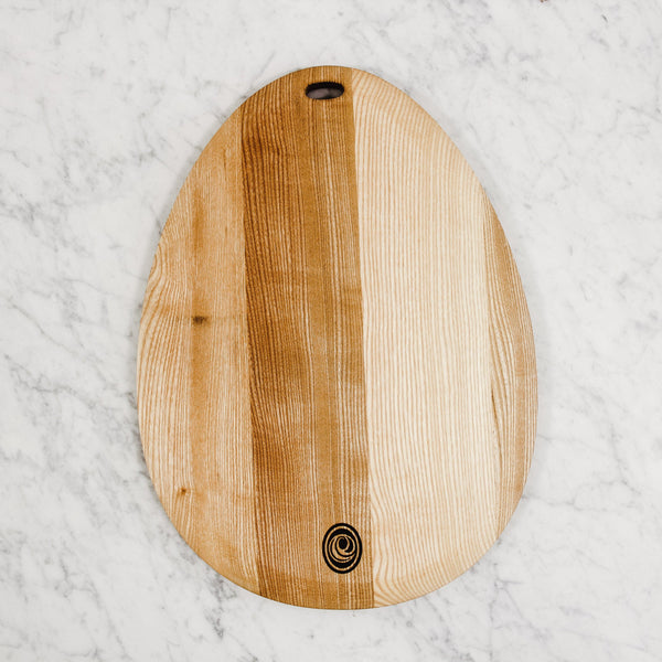 egg-shaped cutting board from epicure