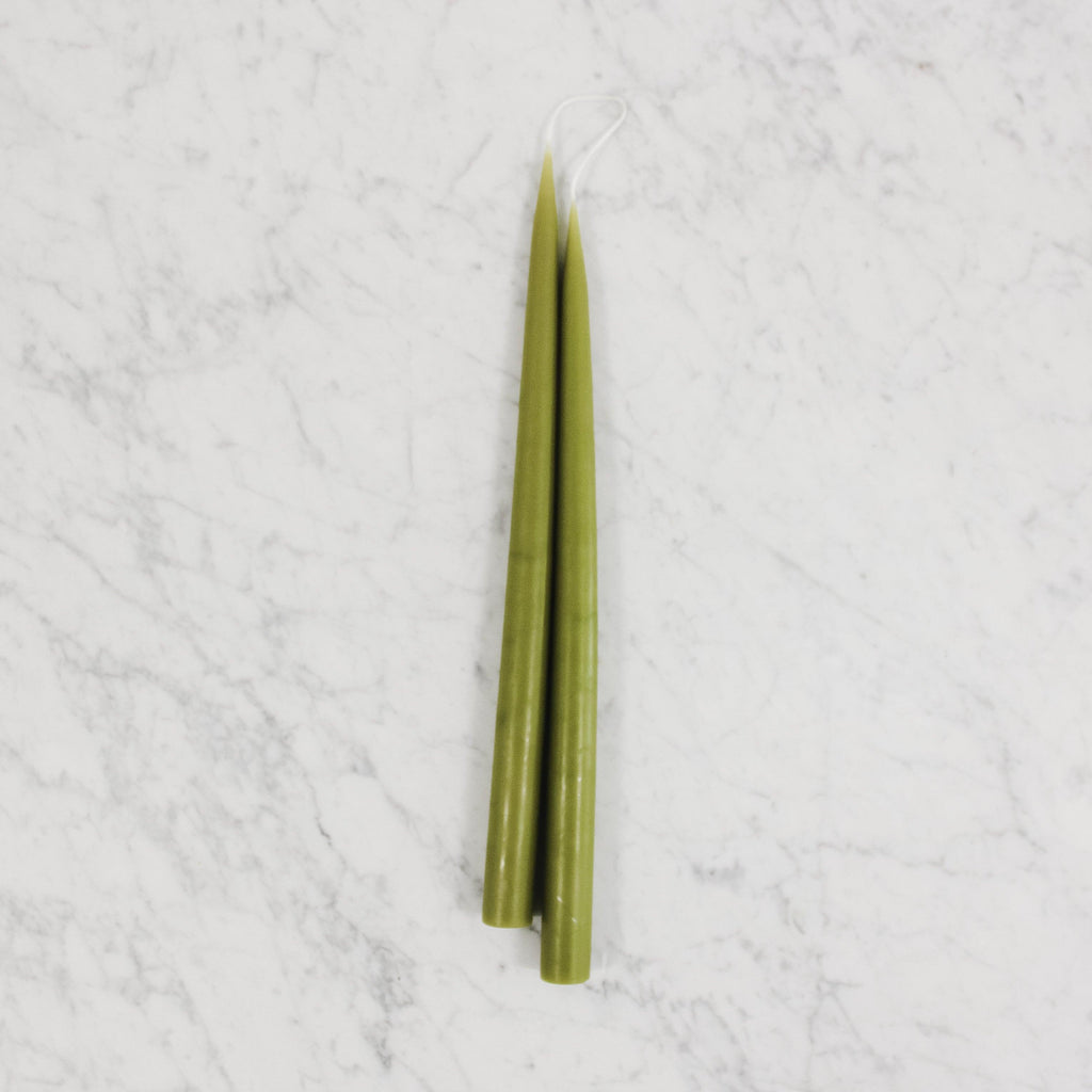 Danish Tapers - Olive Green