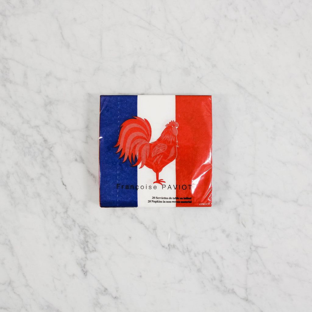 Paviot French Flag Cocktail Napkins