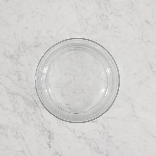 round glass serving bowl
