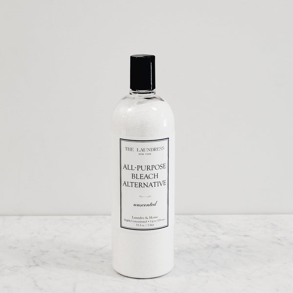 bottle of bleach alternative in the unscented formula by the laundress new york