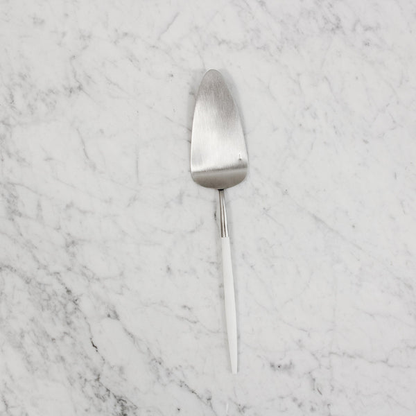 "cutipol ""goa"" pastry server with white handle"