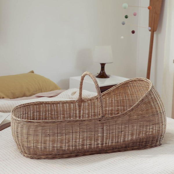 Olli Ella - Lyra Moses Basket with Stand & Cotton Mattress
