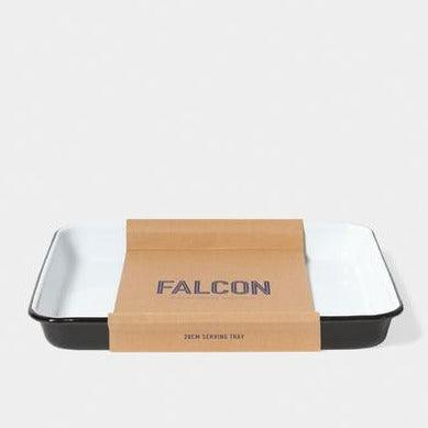Falcon Enamelware Serving Tray in coal black