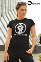 Black Lives Matter Fist Fitted T-shirt