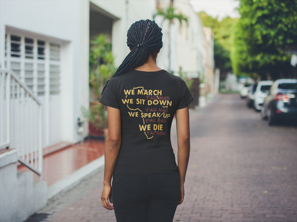 We March - (Women's Fitted Tee)