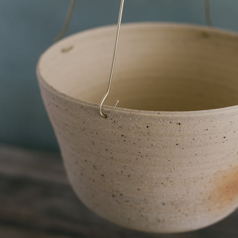 Sand Brass Hanging Planter