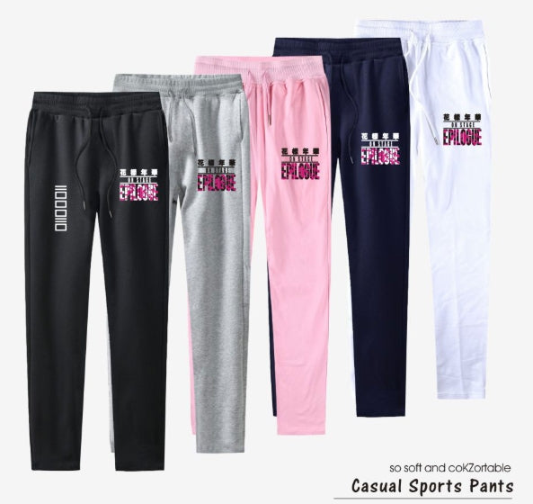 bts Kpop 100% Cotton High Grade Harem Pants Love Yourself sweat pants Casual Straight Trousers For Women And Men