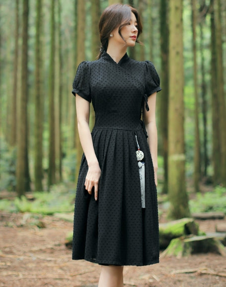 Black modern hanbok dress/buy korean national hanbok dress