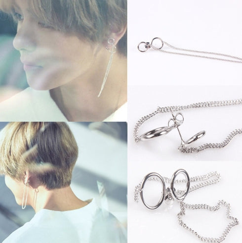 BTS V Earrings ear Stud jewelry