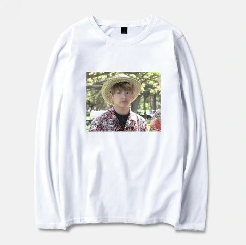 BTS Kpop Jungkook Hawaii Spring Long Sleeve T-Shirts Men/Women Cotton Streetwear Top Tees Women Casual Tshirt