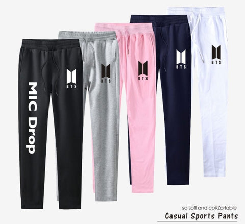 bts 100% Cotton Top Quality Pants Casual Sweatpants harem pants Jogger Slim Kpop sweat pants for Women And Men