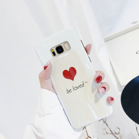 Be loved red heart hologram couple galaxy note8,galaxy s9,s8plus