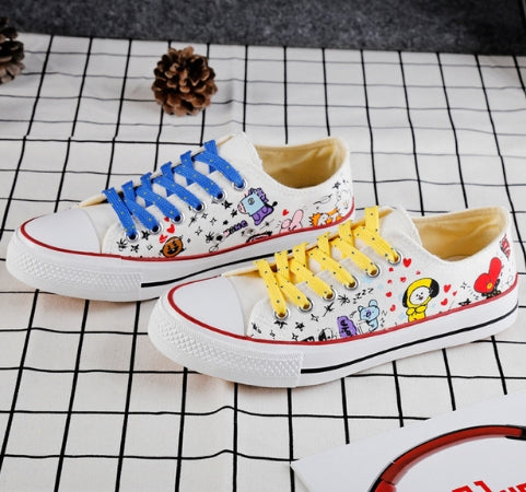 BTS bt21 canvas shoes