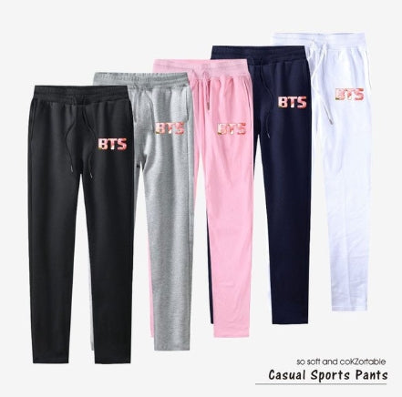 bts 100% Cotton Top Quality Pants Love Yourself Casual Sweat pants Jogger Slim Kpop harem pants for Women And Men