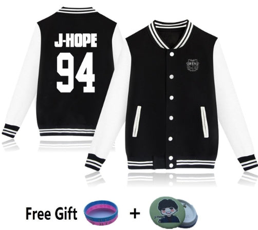 BTS warm baseball jacket