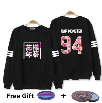 kpop Bangtan Boys Kpop BTS Women Hoodies Sweatshirts Letter Printed in J-HOPE 94 and SUGA 93 Women xxxl Hoodies