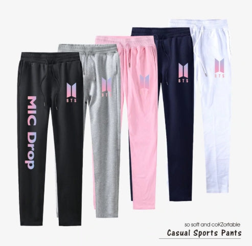 BTS 100% Cotton Harem Pants fit Straight Pants Casual Sweatpants Kpop Top Quality Trousers Women And Men Fashion