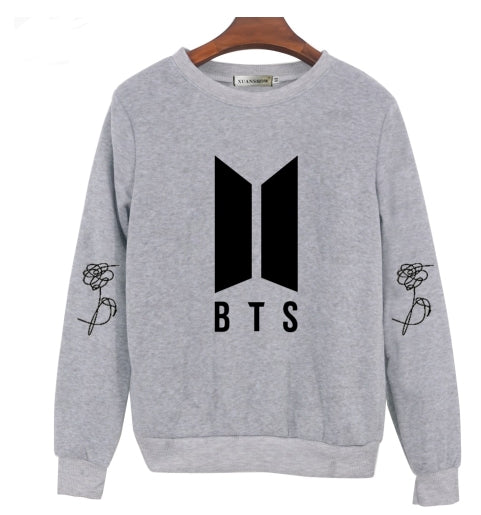New BTS Bangtan Boys Kpop Album Love Yourself Answer Fans Clothing Casual Letters Printed Pullover Tops