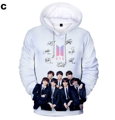 BTS Print Kawaii 3D Hoodies Sweatshirts